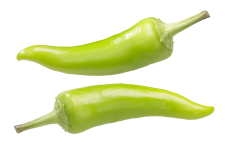 Hungarian Gabi peppers (a Hot Wax type), whole unripe pods Reklamní fotografie