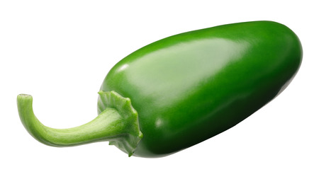 Jalapeno chile pepper (Capsicum annuum fruit), whole green pod