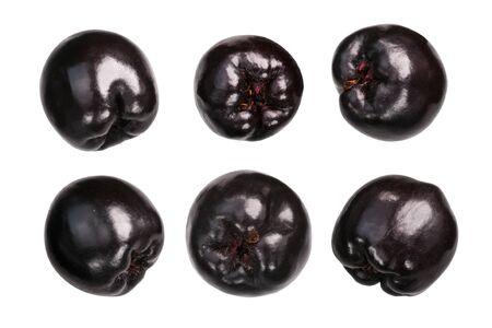 Black chokeberries (Aronia melanocarpa fruits), isolated