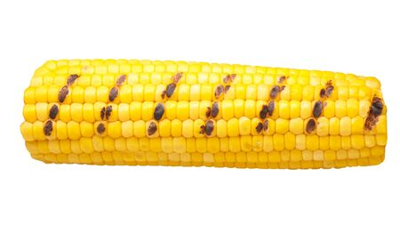 Grilled corn cob or maize ear, isolated Zdjęcie Seryjne