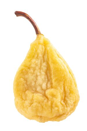 Dried or sundried whole pear isolated