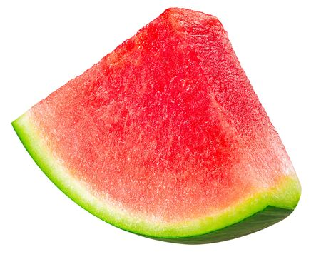 Watermelon piece or sector (cut from Citrullus lanatus slice), isolated Reklamní fotografie