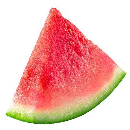 Watermelon piece or sector (cut from Citrullus lanatus slice), isolated Stock Photo