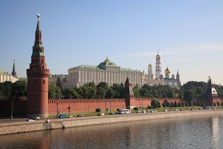 Towers of the Kremlin, Moscow, Russia Stock Photo