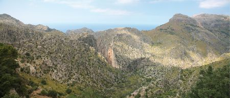 Landscape on road from Pollenca to Soller. Majorca Stock Photo