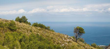 View on the way to church Ermita de Betlem. Majorca