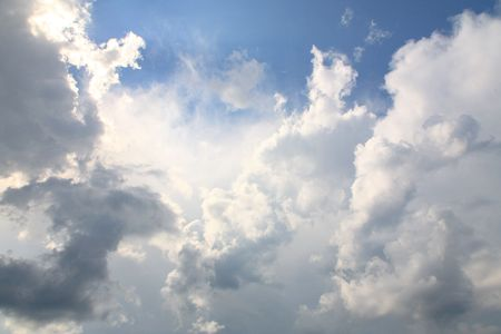 Beautiful storm-cloud in the sky Stock Photo