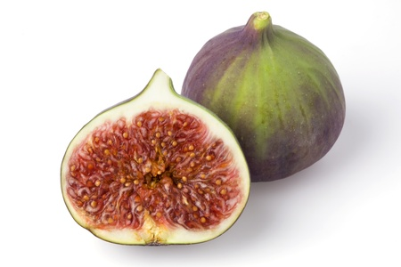 Fig fruits on a white background