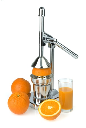 juicer: Juicer for a citrus  for a citrus and oranges Stock Photo