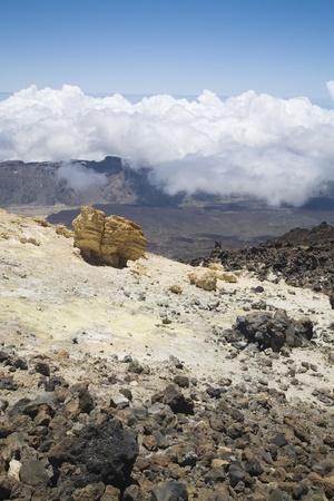 View from peak Teide, Tenerife, Canary Islands Stock Photo