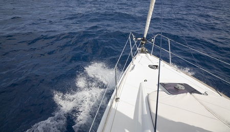 The sailing yacht takes to the high sea