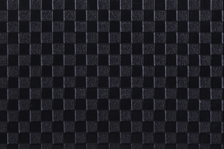 imprinted: Texture of black leather with imprinted geometrical drawing