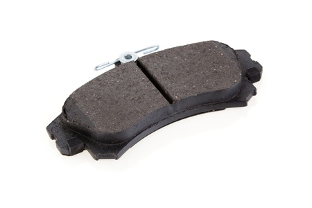 Brake shoe for the car on a white background