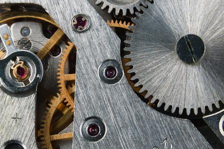 asterix: Clockwork of an old mechanical clock close up