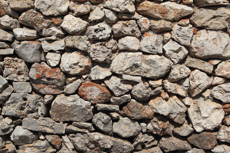 walling: Background with an ancient stone wall, Croatia
