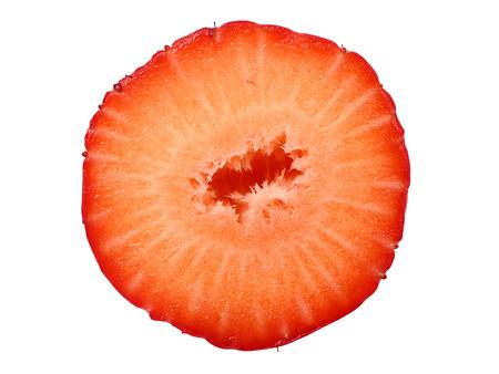 cross cut: Close up of a cross cut of strawberry