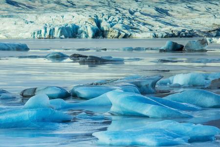 hummock: The landscape in Glacier Lagoon Jokulsarlon. Iceland, February