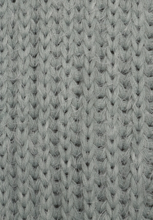 The close up texture of light-green knitted fabric, can be used as a background