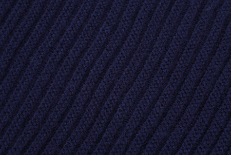 The close up texture of blue knitted fabric, can be used as a background