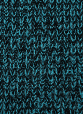 The close up texture of green knitted fabric, can be used as a background Stock Photo
