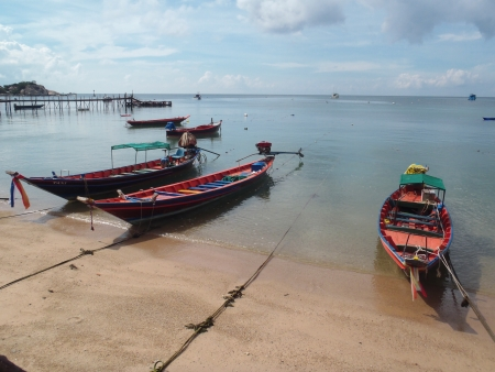 Thai wooden boats 2       photo