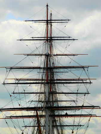 tall ship: Tall ship mast Stock Photo