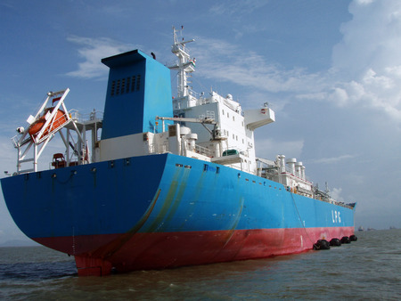 superstructure: LPG Carrier stern view