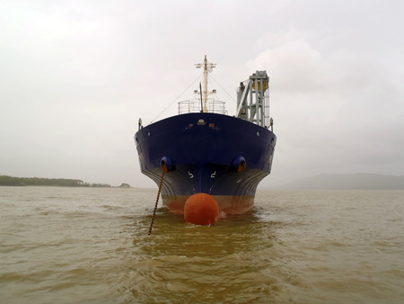 superstructure: General Cargo Ship  bow  view