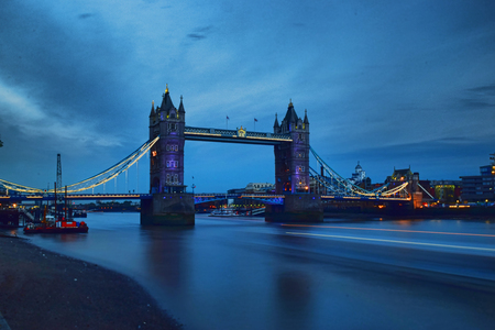 urbanscape: Tower Bridge by night Stock Photo