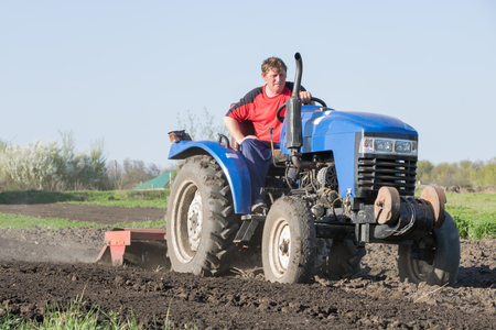 Farmer on the tractor