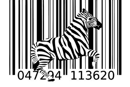 zebra barcode design art idea 写真素材
