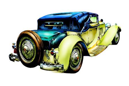 old classic car retro vintage