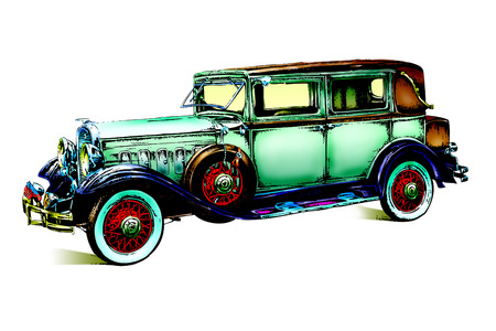 오래 된 클래식 자동차 복고풍 빈티지 스톡 콘텐츠