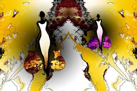 funk: Africa retro vintage art