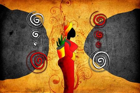 아프리카 복고풍 빈티지 예술