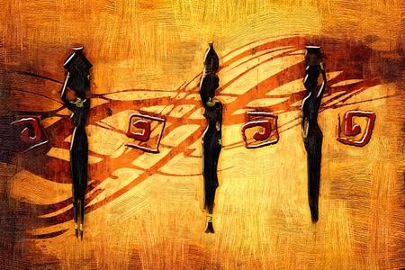 아프리카 레트로 빈티지 예술 스톡 콘텐츠