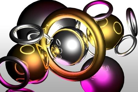 3d art: Arte 3D de color abstracci�n luz