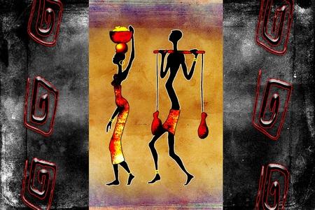danza africana: Estilo vintage retro �frica