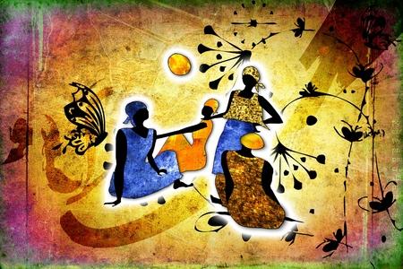 arte africano: Estilo vintage retro África
