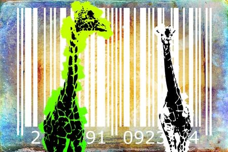 origen animal: código de barras de los animales idea del diseño del arte