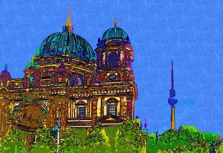 berlin: Berlin art design illustration