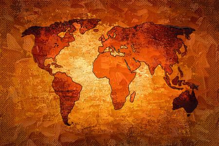 earth map: World map paint design art