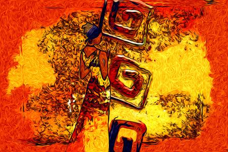 African art Stock Photo