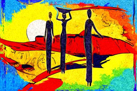 african art: African art Stock Photo