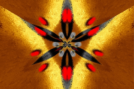 abstraction: A star symmetric fractal abstraction Stock Photo