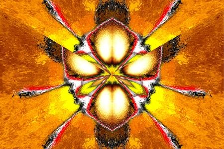 symmetric: A star symmetric fractal abstraction Stock Photo