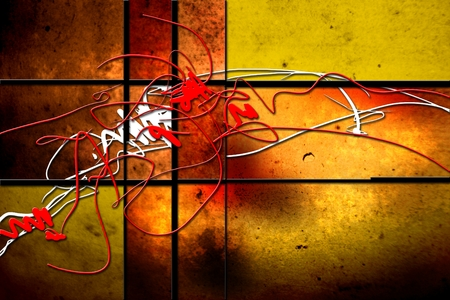 outburst: Abstract color design art