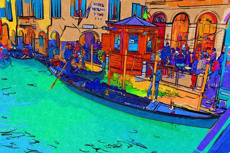 rialto: Venice art illustration