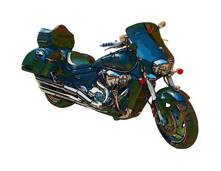 motor cycle: Motor cycle llustration color isolated art
