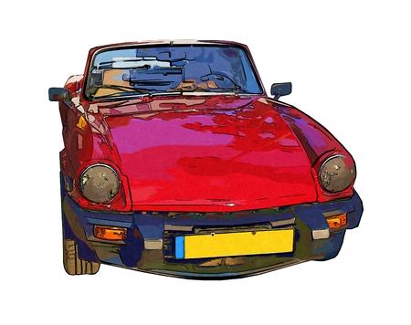 he is beautiful: Sport car art illustration